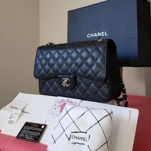 New w tag receipt card chanel jumbo black caviar